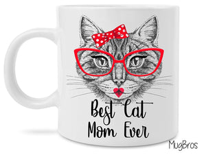 MugBros Best Cat Mom Ever Cute Novelty Coffee Mug