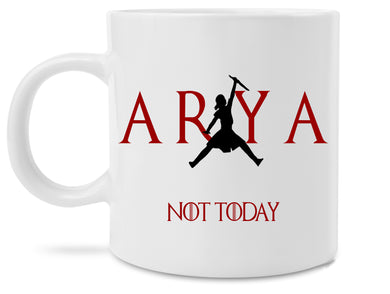 Arya Stark Not Today Jumpman Logo Novelty Coffee Mug