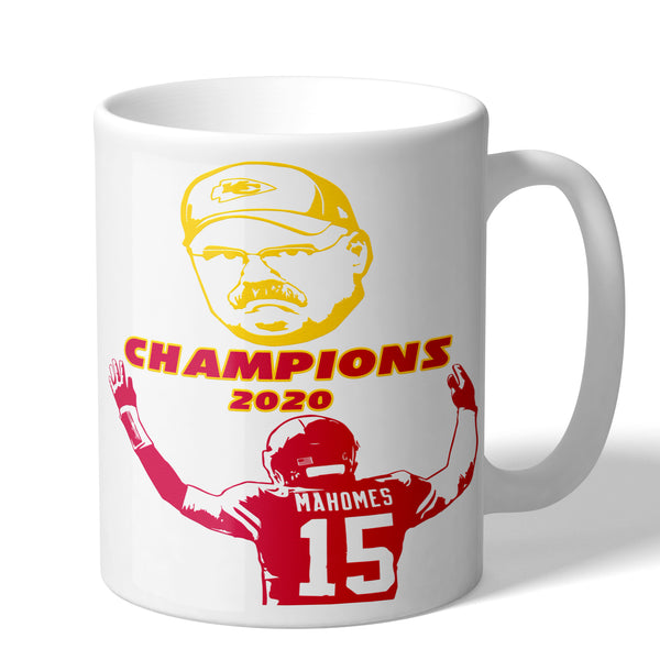 Andy Reid Patrick Mahomes Kansas City Chiefs 2020 Champions Coffee Mug