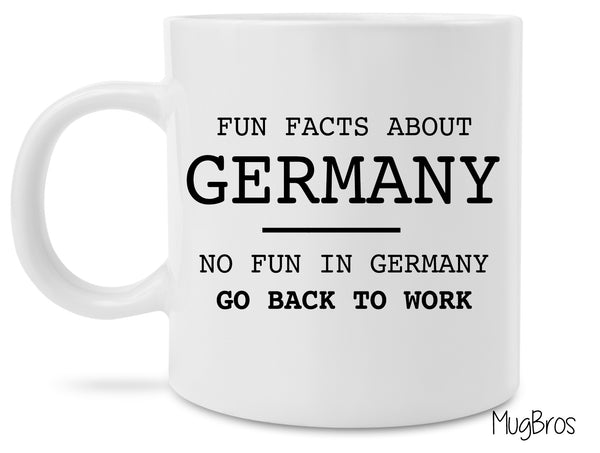 Fun Facts About Germany Funny Novelty Gift Coffee Mug FREE SHIPPING