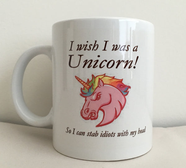 I Wish I Was A Unicorn Funny Coffee Mug