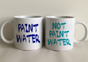 Funny Coffee Mug Set For Artists or Painters Unique Gift Idea