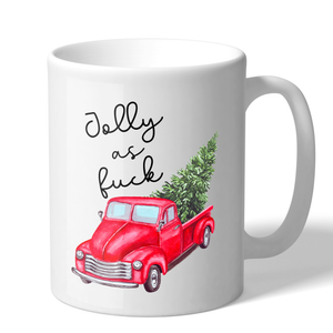 Jolly AF Novelty 11 Ounce Holiday Coffee Mug