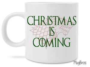 Christmas is Coming Game of Thrones House Stark Coffee Mug