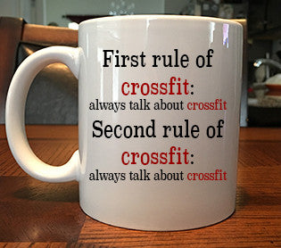 The Rules of Crossfit Funny Coffee Mug