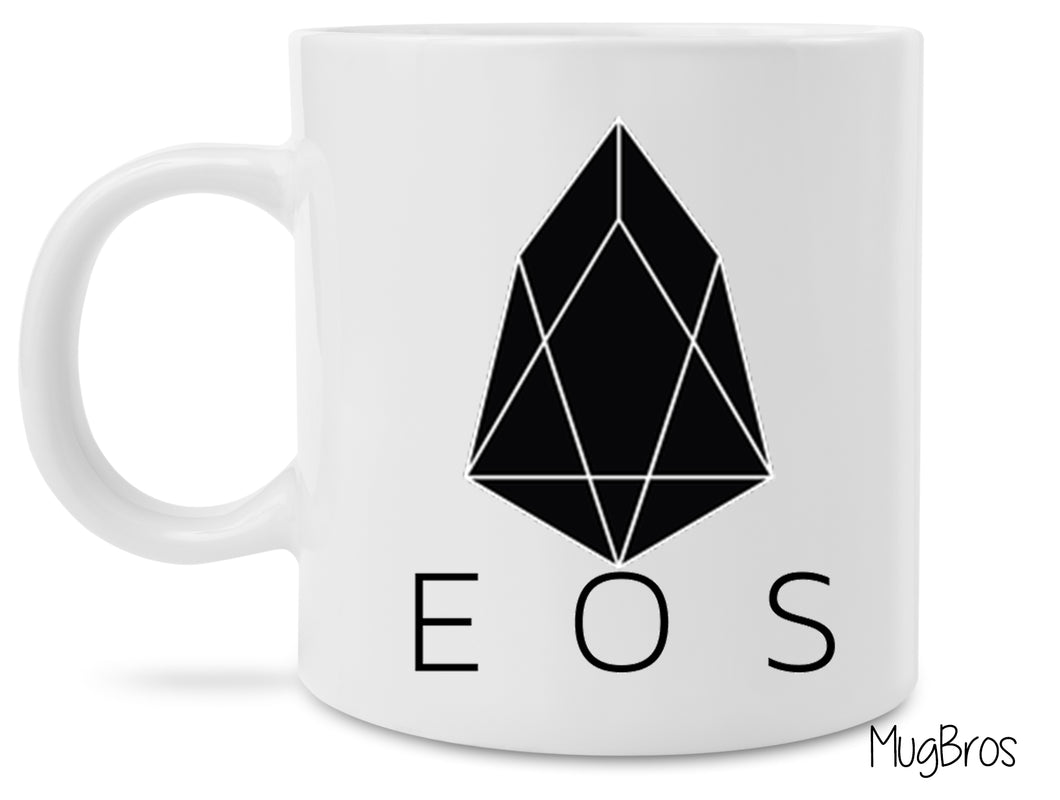 EOS Crypto Logo Cryptocurrency Coffee Mug
