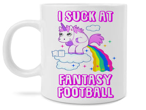 Funny Unicorn I Suck at Fantasy Football Coffee Mug