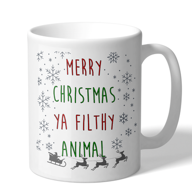 Merry Christmas Ya Filthy Animal 11 Ounce Holiday Mug