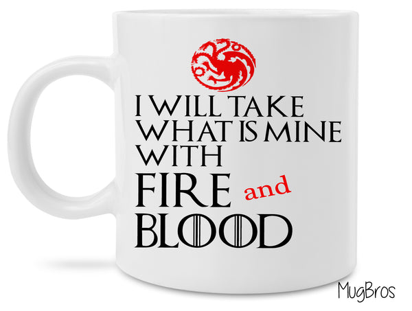 Game of Thrones Inspired Fire and Blood Magical Coffee Mug