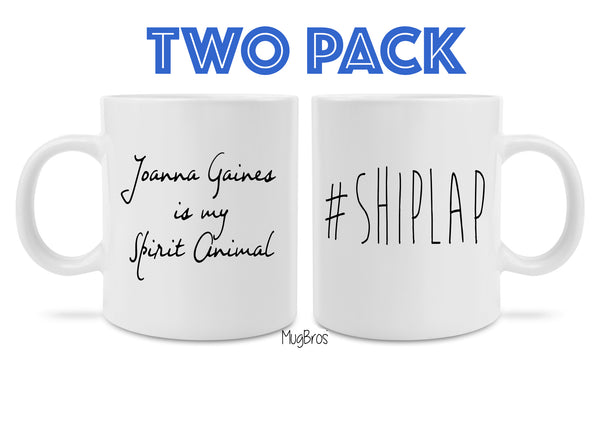 Fixer Upper Inspired Shiplap and Joanna Gaines Coffee Mug Set