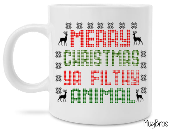 Home Alone Merry Christmas Ya Filthy Animal Funny Novelty Coffee Mug Great Stocking Stuffer Christmas Gift Mug