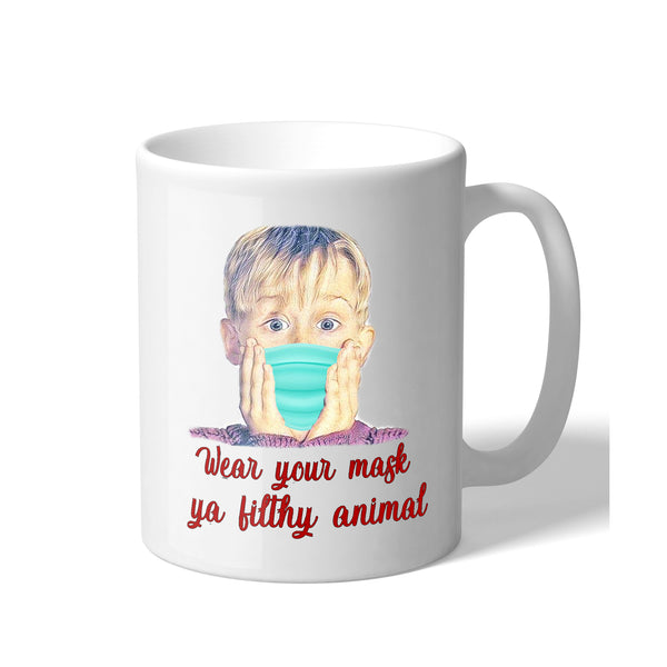 Home Alone Merry Christmas Wear Your Mask Ya Filthy Animal 11 Ounce Novelty Christmas Coffee Mug