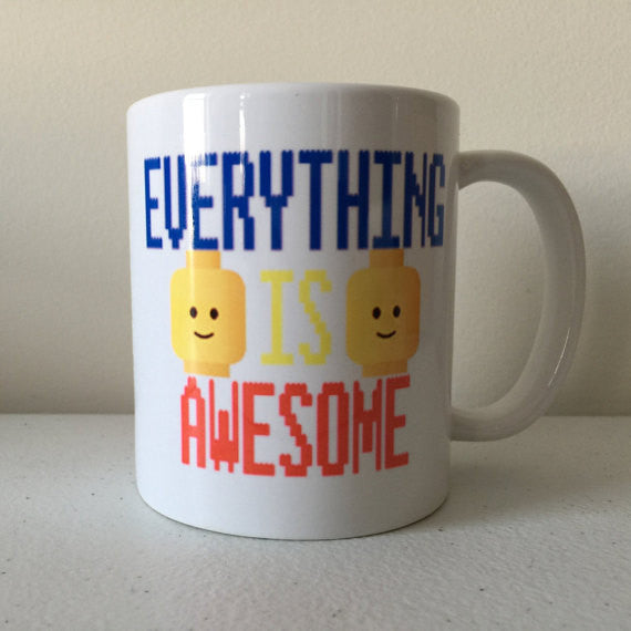 Lego Movie Everything is Awesome Coffee Mug