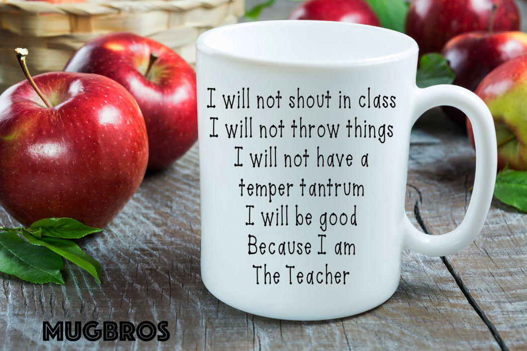 I am the Teacher funny Coffee Mug