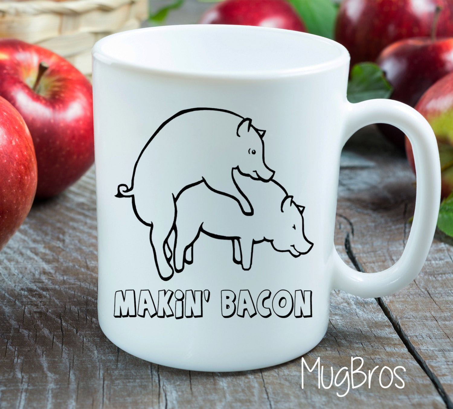 Makin Bacon Funny Gift Idea - Funny Coffee Mug - Unique Gift Idea ...