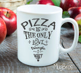 Pizza Love Triangle Funny Coffee Mug