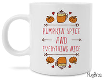 Pumpkin Spice and Everything Nice Cute Funny Coffee Mug