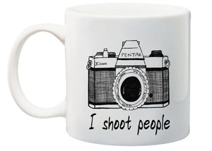 I Shoot People Funny Photography Coffee or Tea Mug