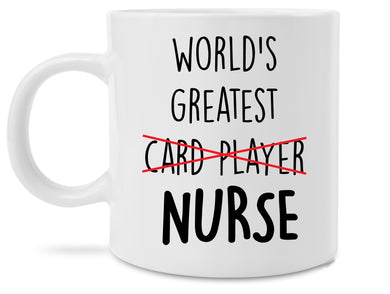 Funny World's Greatest Card Player Nurse Coffee Mug