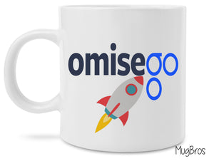 OmiseGo Rocket to the Moon Logo Crypto Currency Coffee Mug