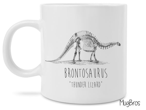 Dustin's Stranger Things Inspired Brontosaurus Thunder Lizard Coffee Mug