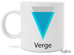 Verge Crypto Logo Cryptocurrency Coffee Mug