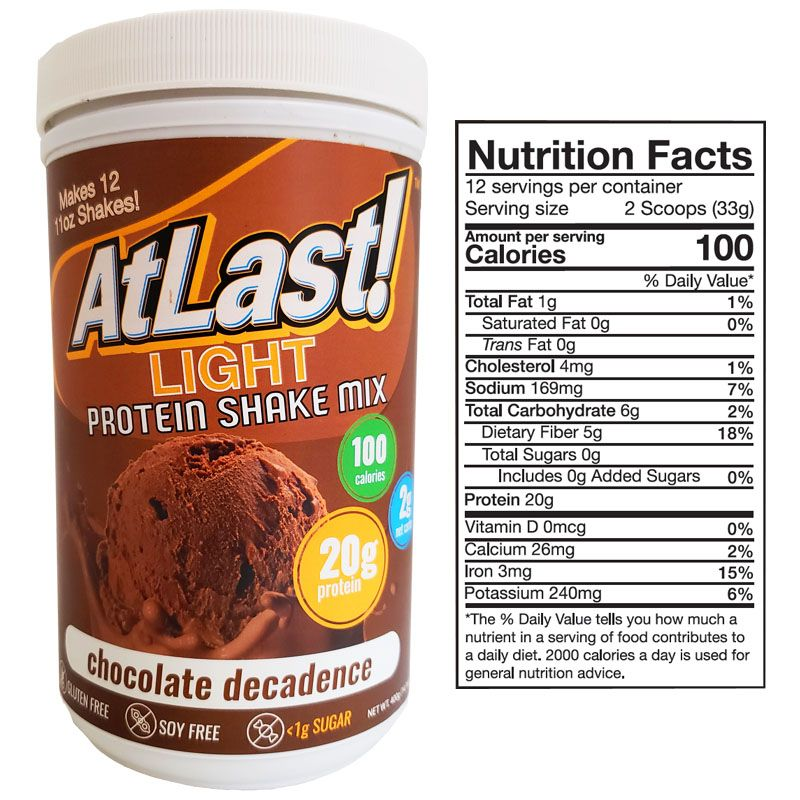 AtLast! Light Chocolate Decadence Protein Powder