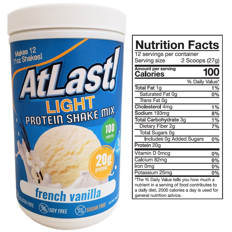 AtLast! Light French Vanilla Protein Powder