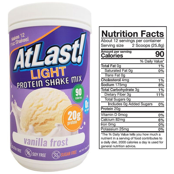 AtLast! Light Vanilla Frost Protein Powder