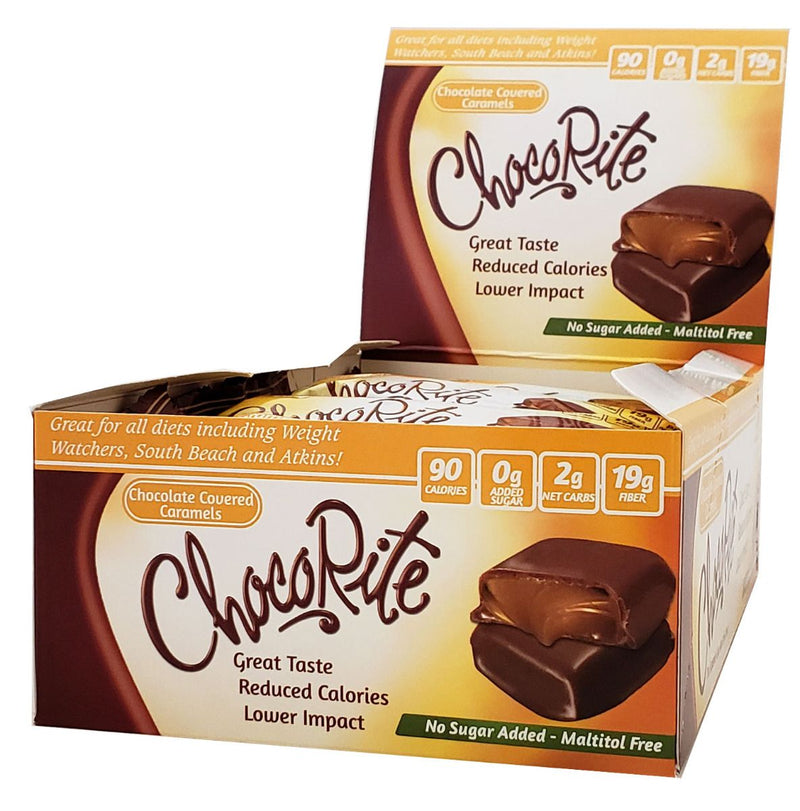 ChocoRite Chocolate Covered Caramels Box of 16