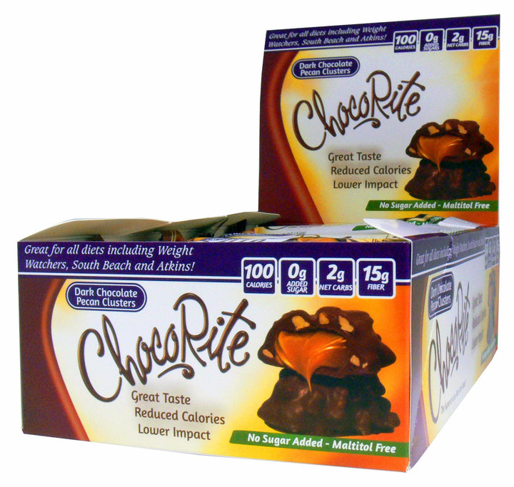 ChocoRite Dark Chocolate Pecan Clusters Box of 16