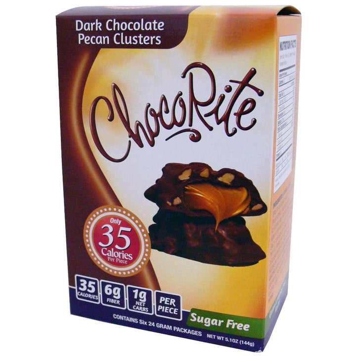ChocoRite Dark Chocolate Pecan Clusters Box of 6
