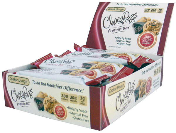 ChocoRite Cookie Dough Protein Bars Box of 12