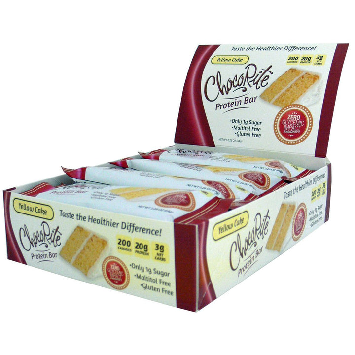 ChocoRite Yellow Cake Protein Bars Box of 12