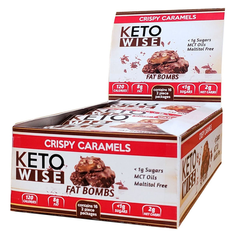 Keto Wise Fat Bombs Crispy Caramels