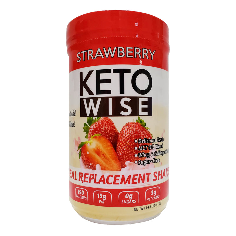 Keto Wise Strawberry Meal Replacement Shake