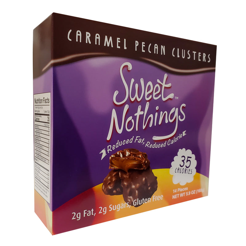 Sweet Nothings Caramel Pecan Clusters 14 Count Box