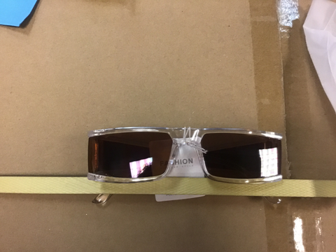 Clear Frame- Brown Shade Sunglasses
