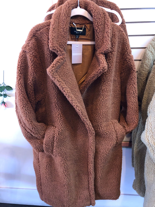 Pumpkin Spice Teddy Coat (LG/XL)