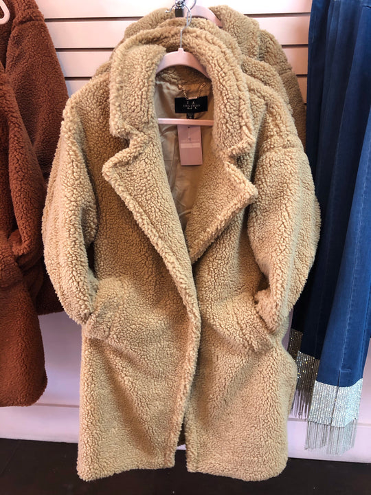 Tan Teddy Coat (LG/XL)
