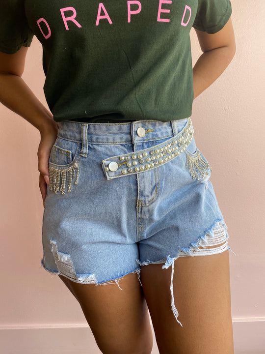Bedazzled Jean shorts