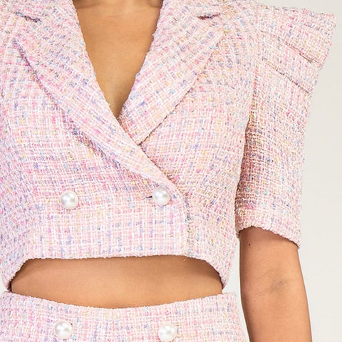 Cotton Candy 2 Piece Short Suit