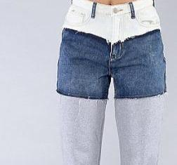 Cut and Paste Jogger Jeans