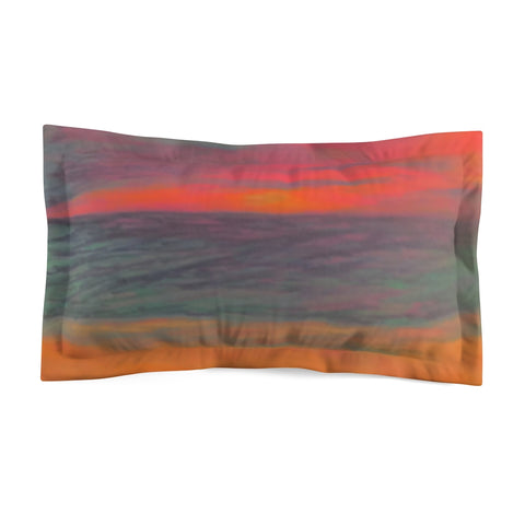 Neon Beach Microfiber Pillow Sham