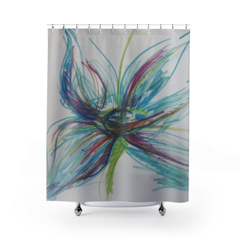 R3 Signature Flower Shower Curtain