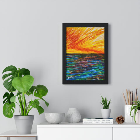 Rainbow Rise Series Premium Framed Vertical Poster