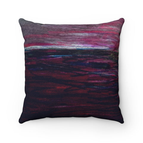 """Deep. Night."" Spun Polyester Square Pillow"
