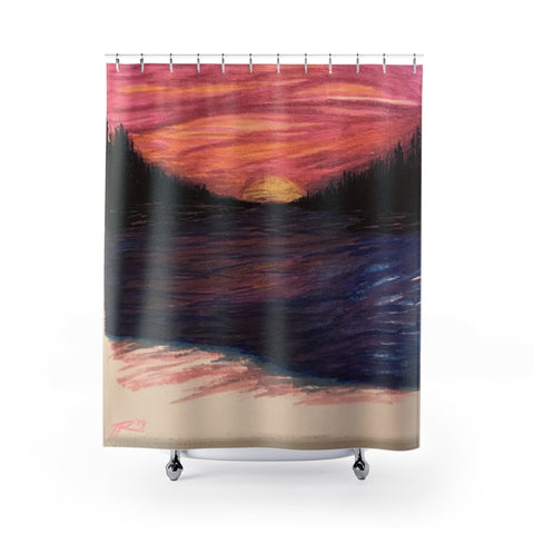 Pink Hue Shower Curtain