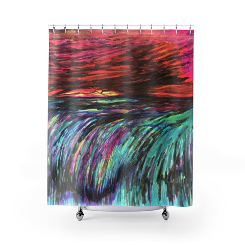 Overboard Shower Curtain
