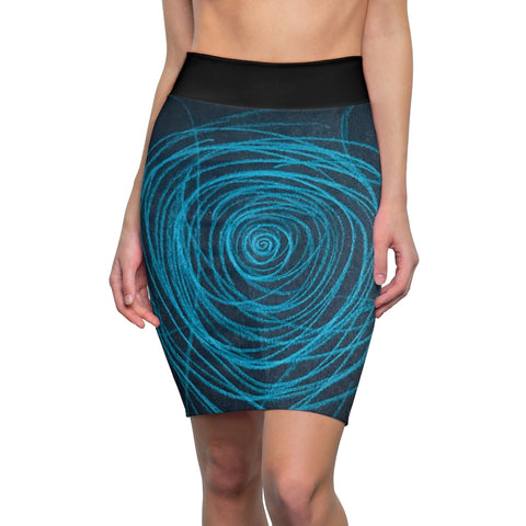 Spiraled Women's Pencil Skirt
